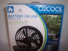 O2 Cool FD05003 5 Inch Battery/USB Port Fan,  Black