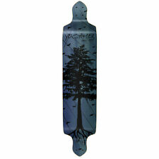 Yocaher Drop Down Longboard Deck - In the Pines : Blue (DECK ONLY)