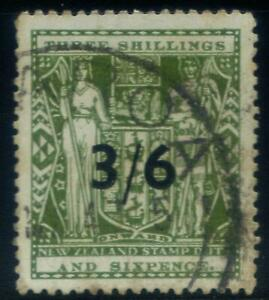 New Zealand Arms overprints 1931 3/6d Used