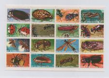 Guinea Equatoriale - Minifoglio timbrato con insetti locali