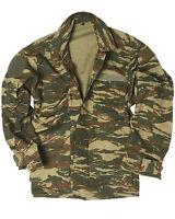 Genuine Greek Army Issue Surplus Military Combat Camo Field Jacket - Unissued