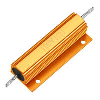 Aluminum Case Resistor 100W 1 Ohm Wirewound Yellow for LED Replacement Converter