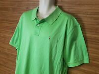 Polo Ralph Lauren Mens Green Pima Soft Touch Short Sleeve Polo Shirt sz XXL EUC