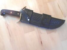 Horizontal Handmade Leather Sheath for Western W49 Case , Ontario, Boker  Bowie