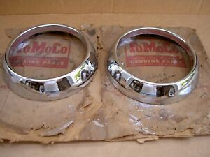 51 Ford accessory chrome headlamp door, 1 pair, 1A-13045, NOS