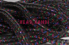 "Non Metallic Black with Multi Thread Cyberlox Tubular Crin 3/4"" 5 Yards"