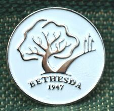 """RARE_Limited Edition_ BETHESDA Country Club 1947 1"""" Ni-Silver Plated Ball Marker"""