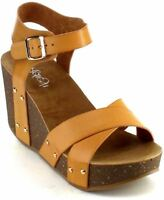Women's Wedge Ankle Strap Sandals Platform Cork Buckle Summer Shoes