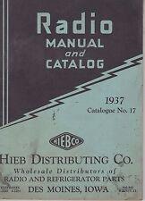 #MISC-0686 - 1937 HIEB DISTRIBUTING RADIO CATALOG