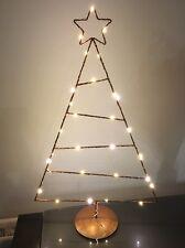 * Riduzione * habitat in rame 30 LED Albero di Natale in stand 50cm ad alta