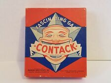 Vintage 1939 Contack Game Parker Brothers Triangular Dominoes Tiles Strategy Box