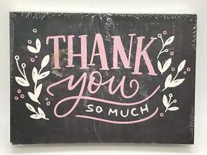50 5x7 Baby Shower Thank You Postcards Bulk  Floral Set Pink
