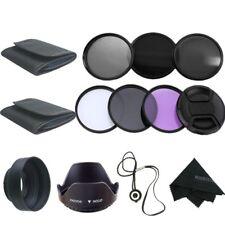 55mm UV CPL FLD ND2 ND4 ND8 Lens Filter Set +rubber hood petal hood free cap