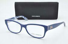 Dolce & Gabbana Eyeglasses DG 3204 2992 Blue/Floral 53mm  Italy