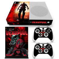 Xbox One S Console Skin Decal Sticker DeadPool + 2 Controller Custom Design Set