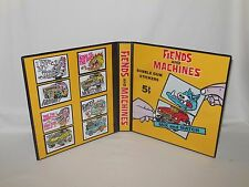 Custom Made Fiends And Machines Trading Card Album Binder Graphics Only