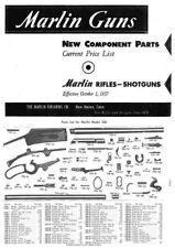 Marlin 1957 Component Parts Catalog