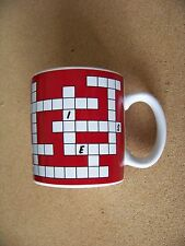 Build Your Own Crossword Puzzle porcelain mug coffee cup one answer inside