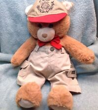 """Build A Bear Tan/brown Beary Merry Teddy Bear With Red Bow  17"""" Going To Camp F5"""