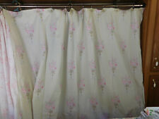 SIMPLY SHABBY CHIC- FABRIC SHOWER CURTAIN-GREEN & PINK 100% COTTON-SO PRETTY