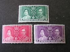 NEWFOUNDLAND, SCOTT # 230-232(3)  COMPLETE SET 1937 CORONATION ISSUE MNH