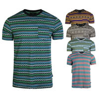 Beautiful Giant Men's Basic Cotton Striped Roomy Short Sleeve Pocket T-shirt Tee