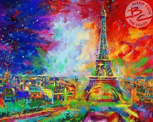 Eiffel Tower 24 x 30 S/N Limited Edition Paper by Artist Blend Cota