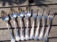 Couverts Cailar Bayard métal argenté =  4 fourchettes + 4 cuillères