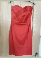 Red Boob Tube Bodycon Satin Dress Size 8  Brand New Perfect For Wedding/ Races