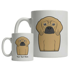 Puggle Dog Cartoon Mug - Personalized Text Coffee Tea Cup