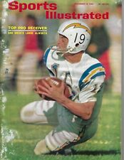 1965 Sports Illustrated football magazine Lance Alworth, San Diego Chargers POOR