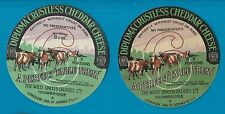 Selection of all different cheese labels ettiquette Fromage formaggio kase #439