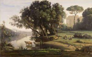 Jean Baptiste Camille Corot Italian Landscape Giclee Paper Print Poster