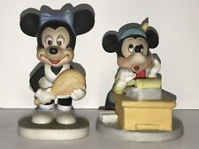 """Vintage Disney Minnie Mouse Tennis Mickey Mouse Office Ceramic Figurines 4"""""""