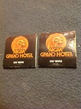 2 Vintage 1980's Mgm Grand Hotel Match Books, New, Never Used Jubilee Don Arden