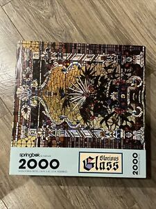 Vintage 1990 Springbok GLORIOUS STAINED GLASS 2000 PIECE Puzzle