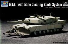 TRUMPETER 1/72 M1A1 Abrams MINE limpieza Hoja #07277