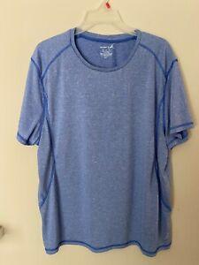 Men`s T Shirt Blue Short Sleeves Dri Fit Size XL Exertek