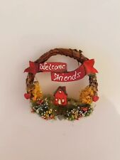 Handcrafted Dollhouse Miniature Artisan Vintage Country Wreath 1980s