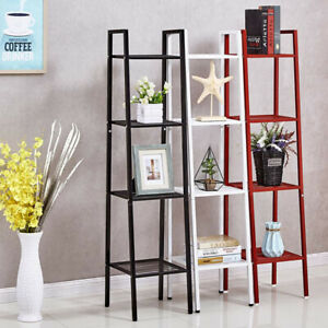 Ladder Shelf Storage Unit Bookcase Plant Pot Shelving Metal Stand Display Rack