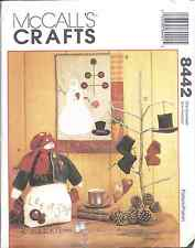 "8442 UNCUT McCalls SEWING Craft Pattern 15"" Snowman Quilt Ornaments Heart OOP FF"