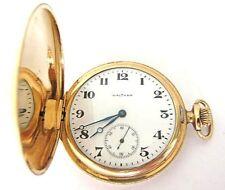 Antique 14K Solid Gold Waltham Pocket Watch,Hunter Case,S12,65.7 Grams,RUN !