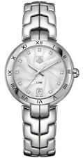 BRAND NEW TAG HEUER LADIES LINK WAT1311.BA0956 DIAMOND 34.5MM SILVER WRIST WATCH