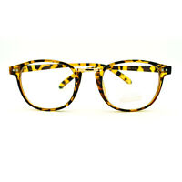 Retro Style European Designer Thin Horn Rim Eye Glasses - Tortoise