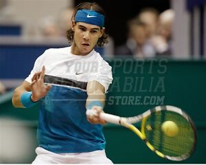Rafael Nadal forehand return blue headband  8x10 11x14 16x20 photo 737