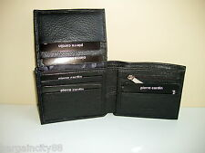 Pierre Cardin Italian Leather Billfold Mens Wallet (pc1162) Black