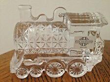 """New ListingFitz & Floyd Clear Crystal Rail Road Rr Train Locomotive Engine 4"""" Long"""