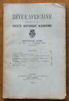 1919 - Revue Africaine - Société Historique Algérienne - N°298