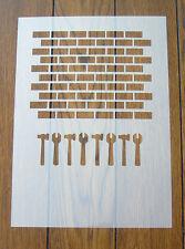 Mattoni muro stencil MASK riutilizzabili MYLAR Fogli per Arts and Crafts