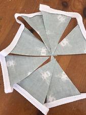 Handmade Bunting In Bee Oil Cloth Fabric